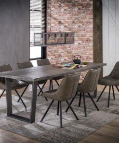Eetkamertafel 230X95 Massief Trapeziumvormig Eettafel