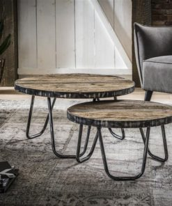 Salontafel Set/2 Rond/Metalen Rand