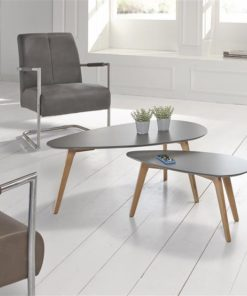 Salontafel 100X50Cm Mdf/Oak Grijs