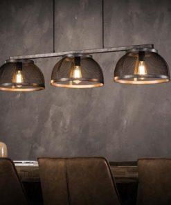 Hanglamp 3X35 Mesh Koepel Verlichting