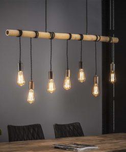 Hanglamp 7L Bamboo Wikkel Verlichting