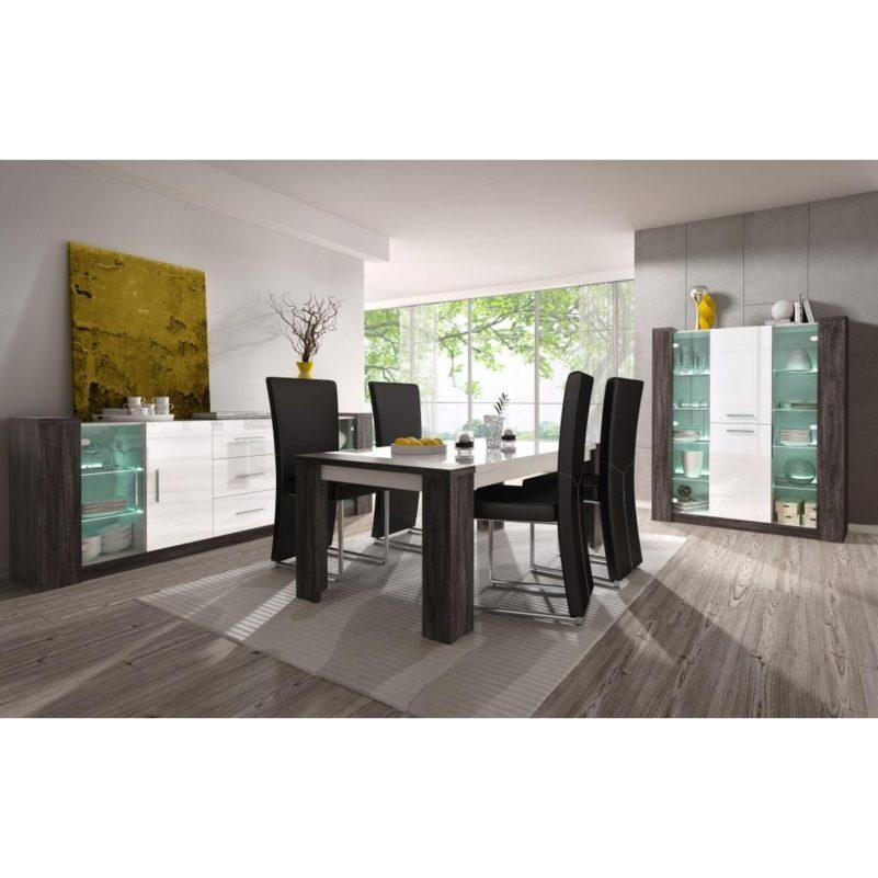 eetkamer-goedkoop-glas-hout-hoogglans
