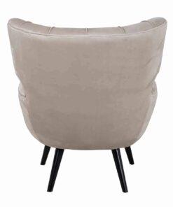 S4417 FR KHAKI VELVET - Easy Chair Emily Khaki velvet