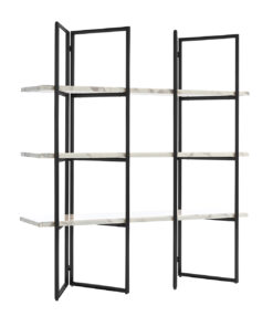 7258 - Display unit Lagrand Black 3-shelves faux marble