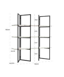 7258 - Display unit Lagrand Black 3-shelves faux marble