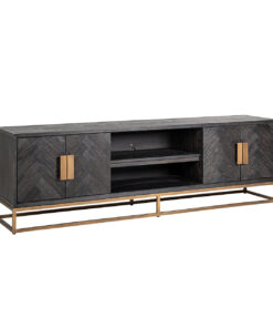7374 - TV-Unit Blackbone brass 4-doors 200