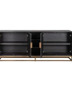 7376 - Sideboard Blackbone brass 4-doors + open space