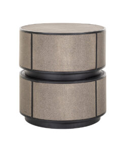 7518 - End table Lustrio 48Ø Shagreen