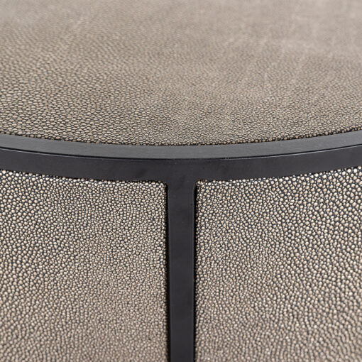 7518 - End table Lustrio 48Ø Shagreen