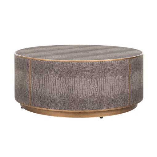 7532 - Coffee table Classio 100Ø Vegan Leather