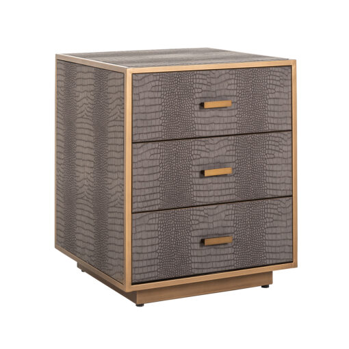 7534 - Chest of drawers Classio with 3-drawers Vegan Leather