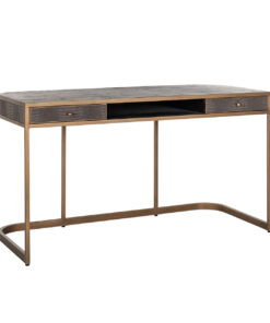 7535 - Desk Classio 2-drawers Vegan Leather