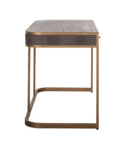 7535 - Desk Classio 2-drawers Vegan Leather