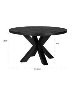 7592 - Dining table Catana 140Ø
