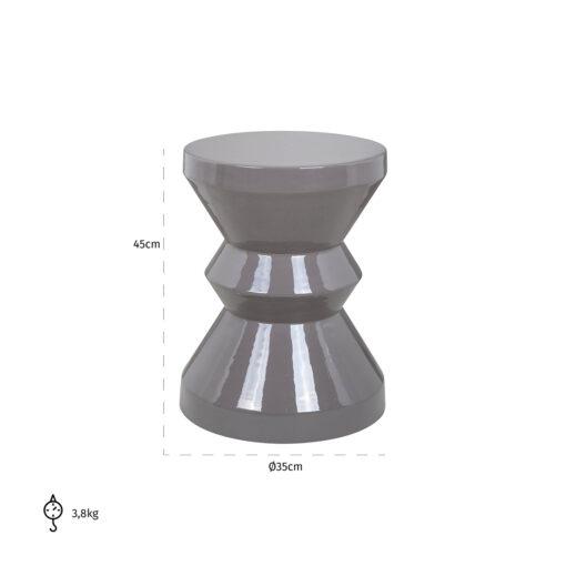 825095 - End table Diablo grey 35Ø