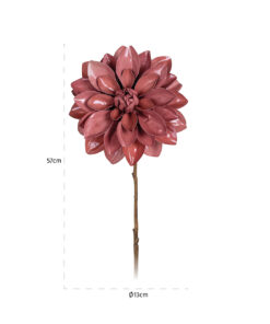 -FL-0019 - Flower Dahlia Rosee (12 pieces)