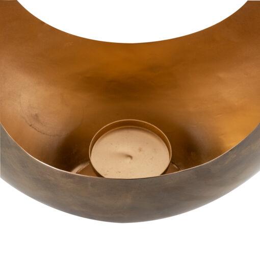 -KA-0132 - Candle holder Cassia gold medium