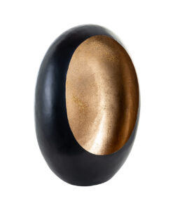 -KA-0136 - Candle holder Civan black with gold glitter medium