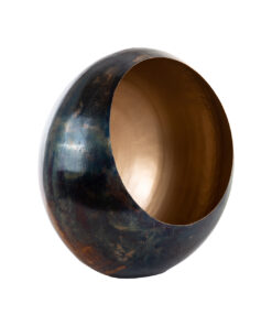 -KA-0138 - Candle holder Catho bronze with gold medium round
