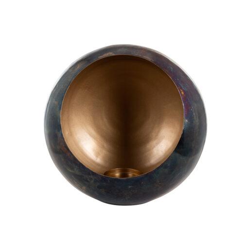 -KA-0138 - Candle holder Catho bronze with gold medium round