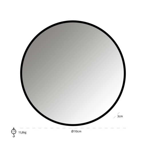 -MI-0057 - Mirror Maevy black 110Ø