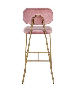 S4523 BLUSH VELVET - Bar stool Xenia Blush Velvet / Brushed Gold