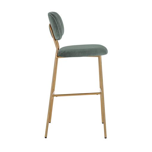 S4523 JADE VELVET - Bar stool Xenia Jade Velvet / Brushed Gold